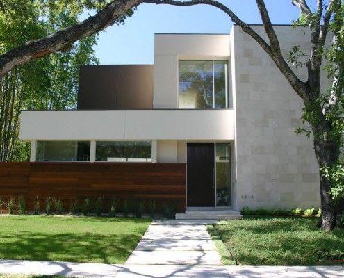 Будова в стилі мінімалізм з білої облицюванням