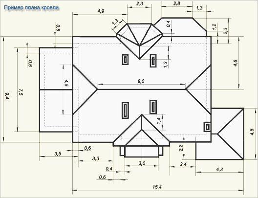 Фото - Розрахунок площі двосхилим даху і кількості матеріалів для установки покрівлі