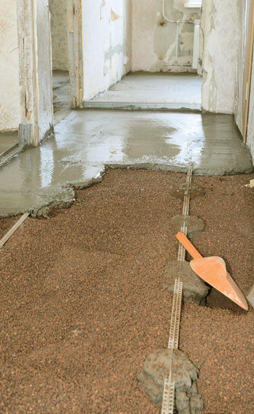 утеплення підлог керамзитом