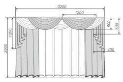 Схема штор з ламбрекенами