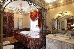 Дизайн ванної в стилі бароко