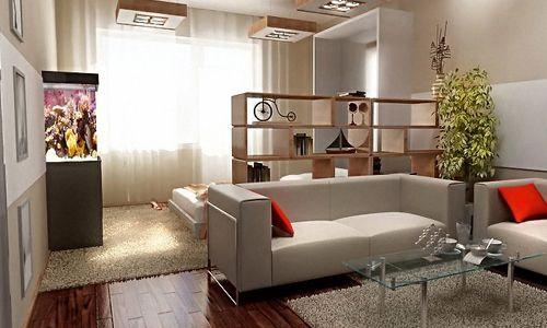 Фото - Розробка дизайну вітальні, суміщеної з спальнею