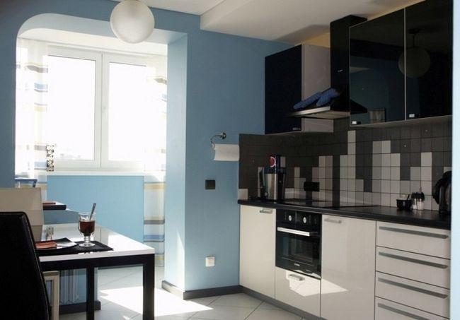 Фото - Рекомендації по дизайну кухні з балконом