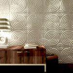 Вітальня рельєфні панелі круглі