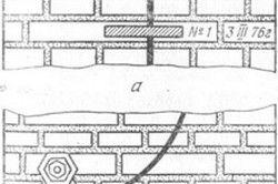 Гіпсовий (а) і пластинчастий (б) маяки