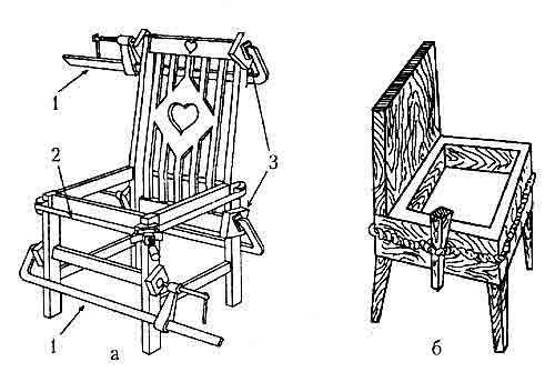Фото - Різьблені стільці і табурети для будинку своїми руками