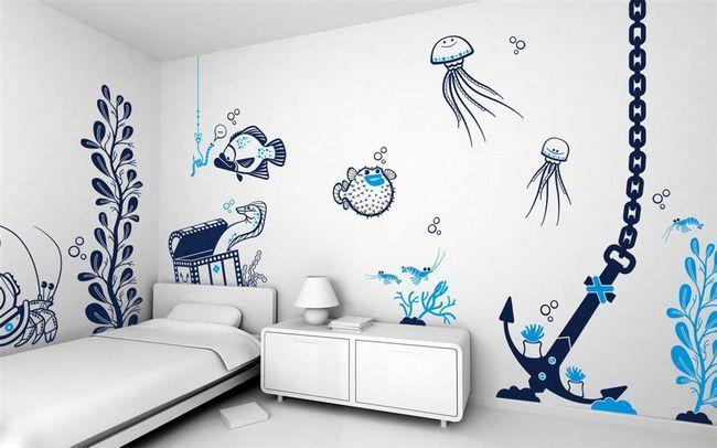 Фото - Малюємо на стіні своїми руками: поради фахівців