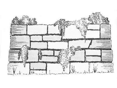 Метод сухої кладки підпірної стінки