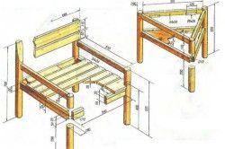 Схема садового стільця