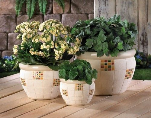 Керамічні садові горщики