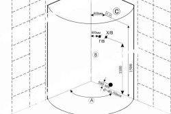 Схема монтажу душового куточка
