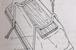 Схема установки опори на ванну