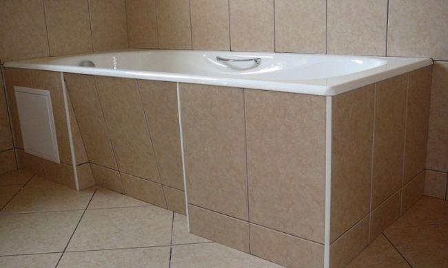 Екран під ванну з гіпсокартону