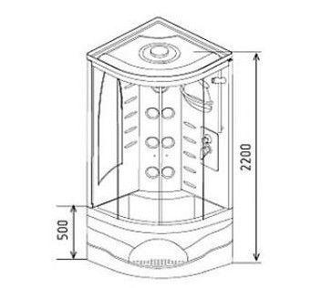 Душова кабіна з розмірами