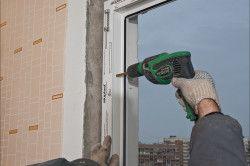 Кріплення пластикового вікна до стіни