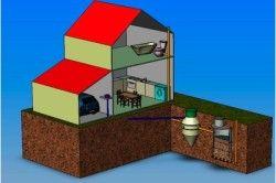 Загальна схема будинку і септика
