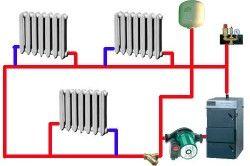 Схема двотрубної системи опалення