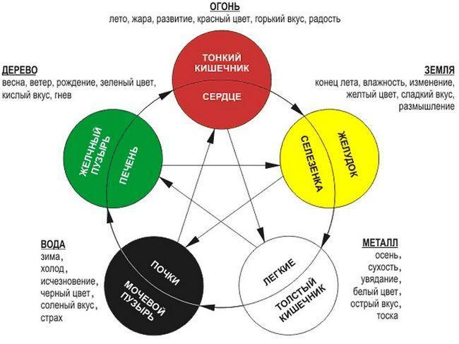 Фото - Схема фен шуй здоров'я по п'яти стихіям