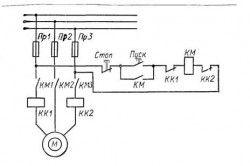 Схема включення нереверсивного пускача