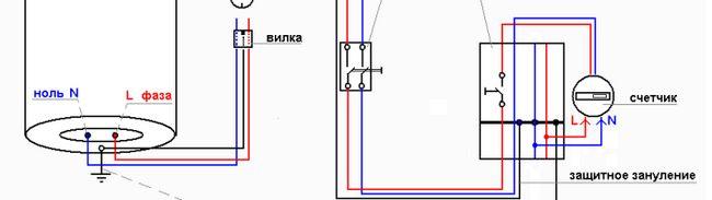 Схема підключення водонагрівача і бойлера Арістон