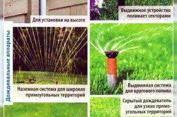 Види дощовиків для системи поливу
