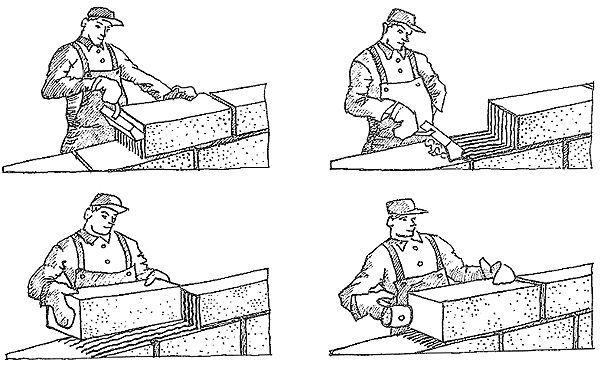 Кладка газо- і пінобетонних блоків на клей