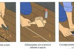Схема установки клинів