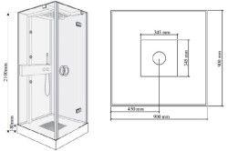 Схема душової кабіни