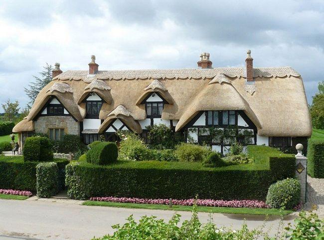 Соломяний дах для приватного будинку