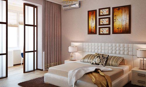 Фото - Поради по дизайну суміщеної спальні з балконом