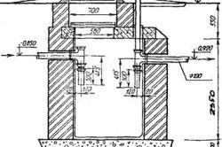 Схема септика з цегли.