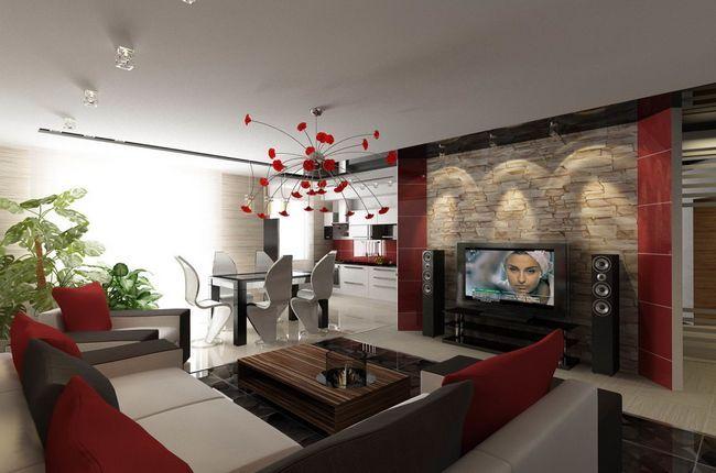 Фото - Поєднана з їдальнею вітальня: кілька варіантів вдалого дизайну