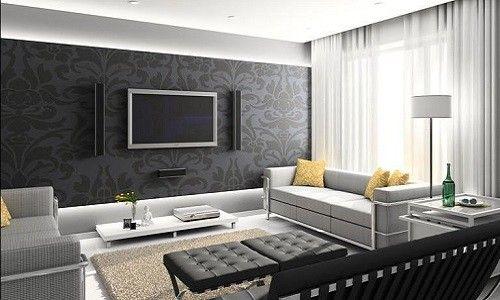 Фото - Сучасна обробка стін шпалерами