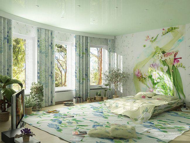 Фото - Сучасно чи виглядають квіткові шпалери в інтер'єрі?