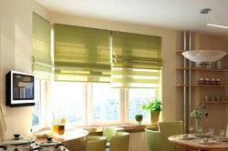Римські штори на кухні