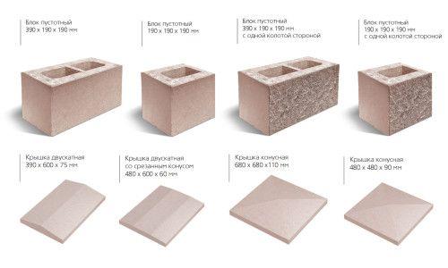 Фото - Сучасні декоративні блоки для стовпів паркану