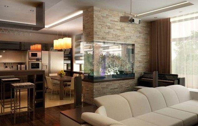 Фото - Сучасні ідеї зонування вітальні та спальні