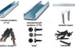 Необхідні матеріали для установки багаторівневих стель.