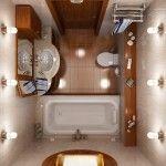 Інтерєр невеликій ванній фото