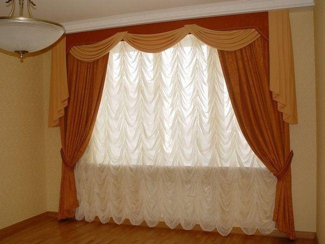 Фото - Сучасний інтер'єр штор для спальні