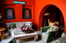 Вітальня-їдальня в мексиканському стилі