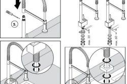 Схема установки змішувачів крана