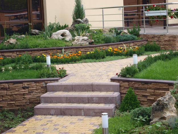 Фото - Способи укладання плитки у дворі