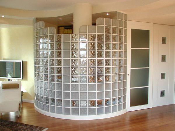 Фото - Скляні декоративні цеглини в інтер'єрі