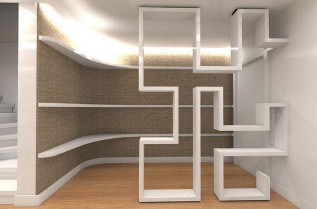Фото - Стелажі і шафи як варіанти перегородок в приміщенні