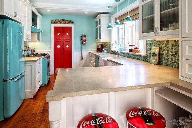Стиль ретро на кухні