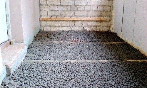 Фото - Стяжка підлоги з застосуванням керамзиту.