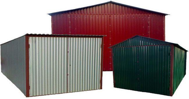Вартість металевого гаража