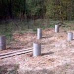 Фото - Стовпчастий фундамент в глинистому ґрунті