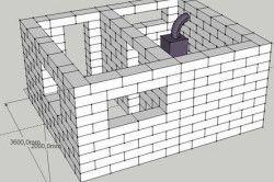 Схема - проект лазні з газобетону